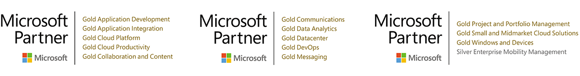 testlogos: Microsoft Partner statuses